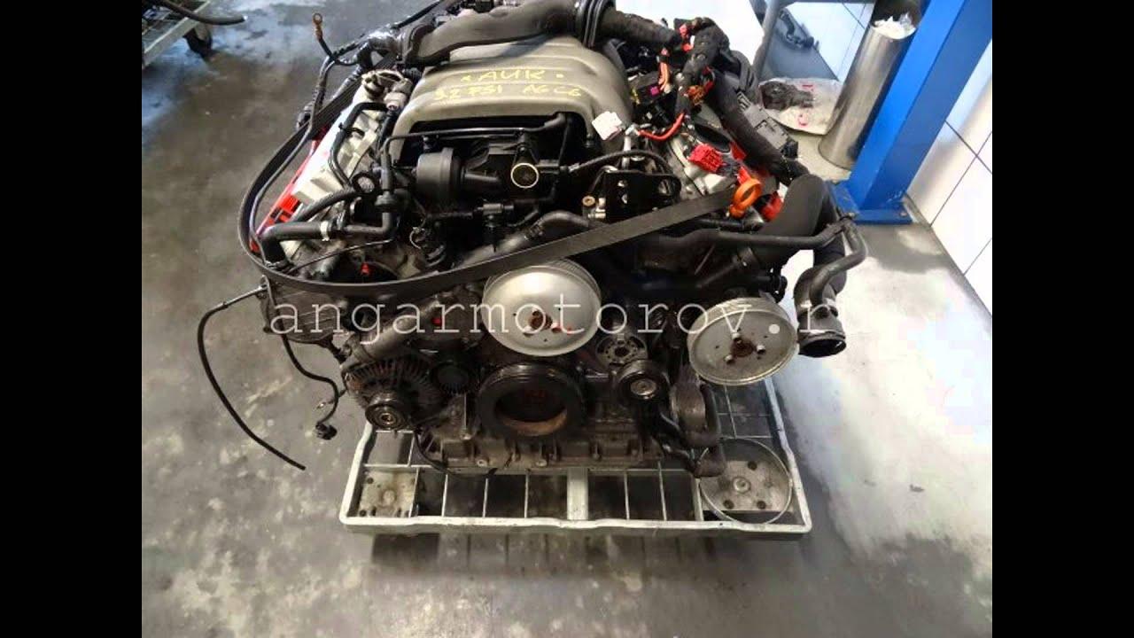 Купить двигатель бу Ауди А4 3.2 AUK CALA Тест мотора audi a4 3.2 Цена в наличии