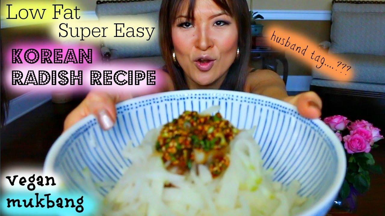 Low fat korean radish rice mukbang recipe youtube forumfinder Gallery