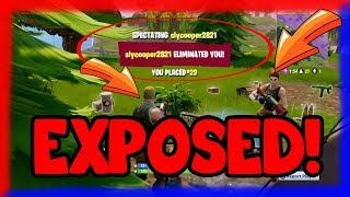 EXPOSING CHEATERS! (Fortnite Battle Royale)