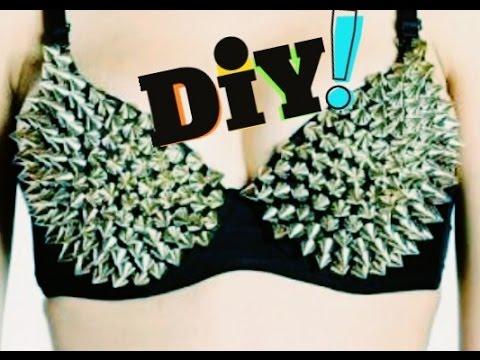 d7425b7a5 DIY Sutiã de Spikes Faça Você Mesmo - YouTube