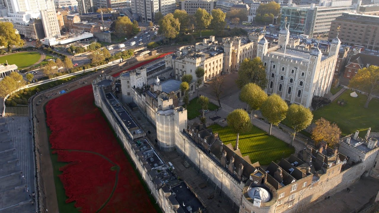 The tower poppies from above youtube - Tour en verre de londres ...