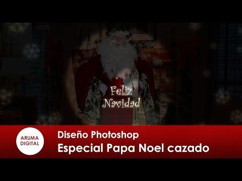 Photoshop Especial 2014 Navidad Papa Noel cazado