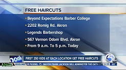 Free back-to-school haircuts for Akron students