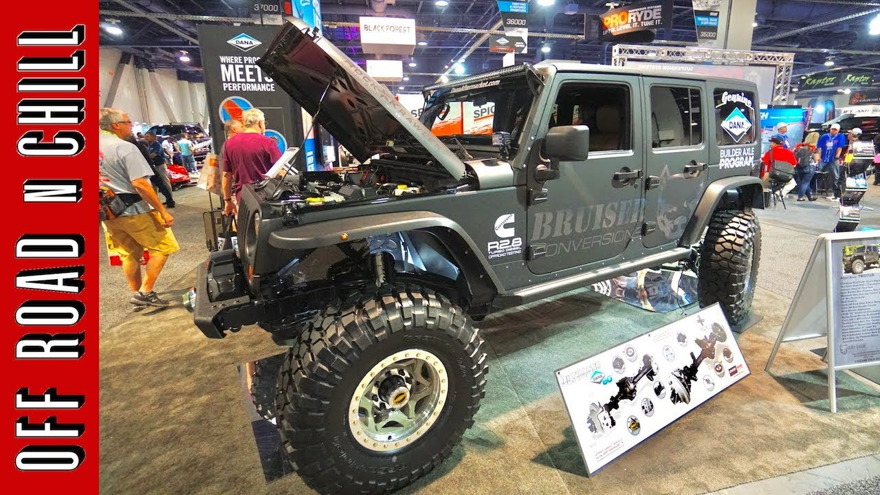 A Jeep Wrangler Jk With Rear Steering And A Cummins Diesel Engine