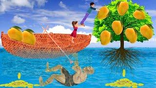 जादुई इट नाव नदी में आम का पेड़ Magical Brick Boat Mango Tree हिंदी कहानियां Kahani 3D Hindi Kahaniya