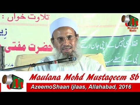 Hazrat Maulana Mohd Mustaqeem Saahab (D.B), Allahabad Ijlas, May 2016, Org. Mohd Ilyas, Taiyyab Ali