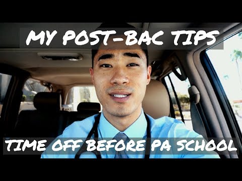 MY POST-BAC TIPS | TIME OFF BEFORE PA SCHOOL | ACTOR