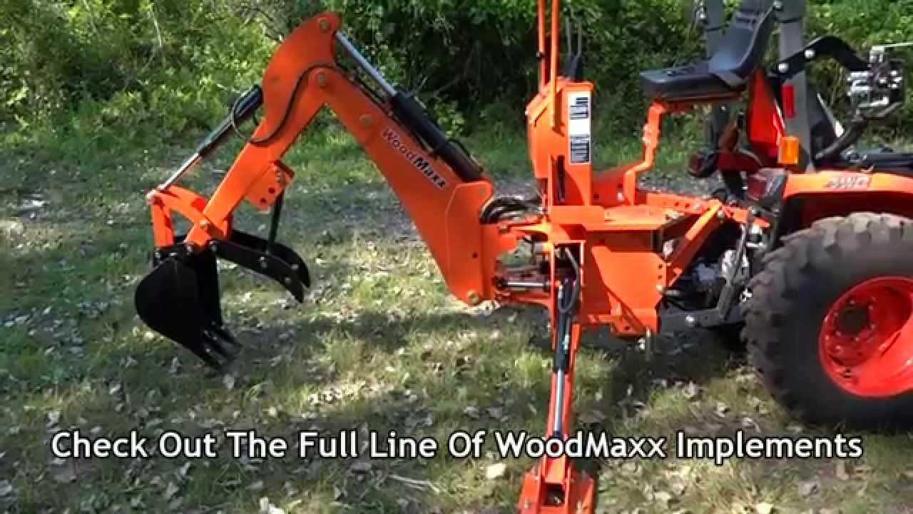 3 Point Hitch Backhoe Attachments : Woodmaxx wm point hitch backhoe attachment