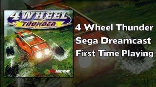 First time playing - 4 Wheel Thunder | Sega Dreamcast | VGA HD
