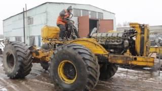Прикол!!! Катаемся на тракторе Кировец К 700 без кабины.