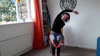 10 minute morning yoga challenge #feelgreatat8 day 3 - chair yoga - British Yoga #stayhomesavelives