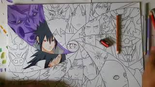 All Sharingan user with Susanoo Speed Drawing :)