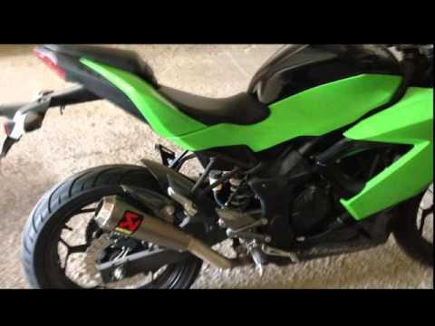 Kawasaki ninja 250sl akrapovic exhaust