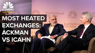Most Heated Exchanges: Hedge Fund Giant Bill Ackman And Investor Carl Icahn Square Off | CNBC