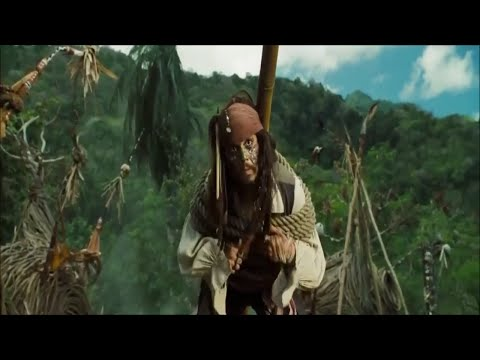 Pirates Of The Caribbean: Dead Man's Chest Hindi :Jack Sparrow  Escape  Forest Scenes  (04)