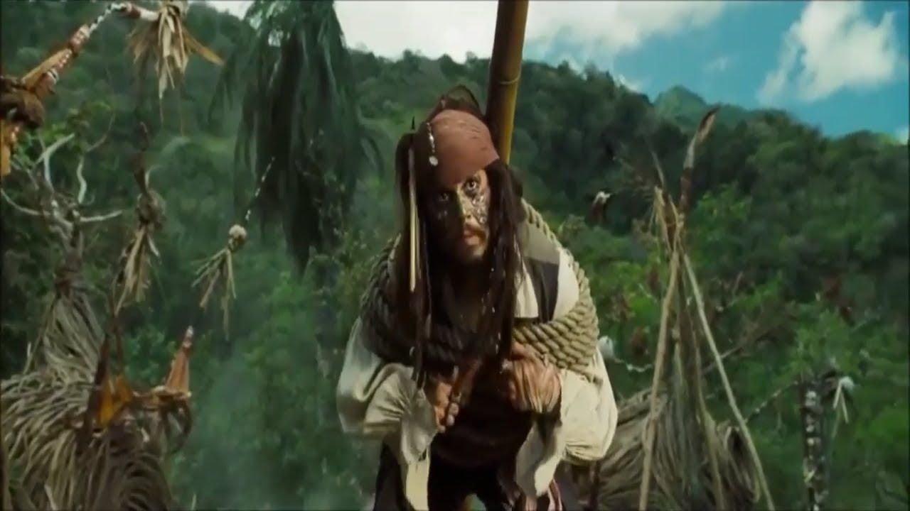 Download Pirates Of The Caribbean: Dead Man's Chest Hindi :Jack sparrow  Escape  Forest Scenes  (04)