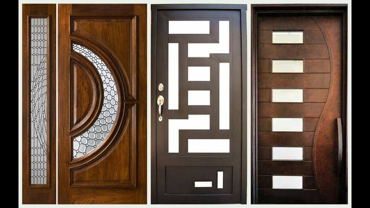 Top 60 modern wooden door designs for home 2018 plan n for Big main door designs