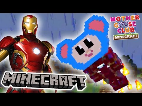 Superhero Fights Zombies | Eep Becomes Iron Man | Mother Goose Club Minecraft