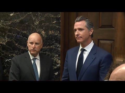 Raw Video: Gov. Brown, Gov.-elect Newsom Hold Joint News Conference