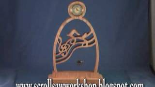 Mini Music Clock With Pendulum Scroll Saw Pattern