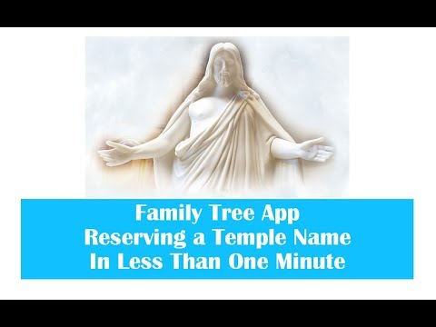 Reserving Temple Ordinances On The Android Family Tree App In 50 Secomds Movie