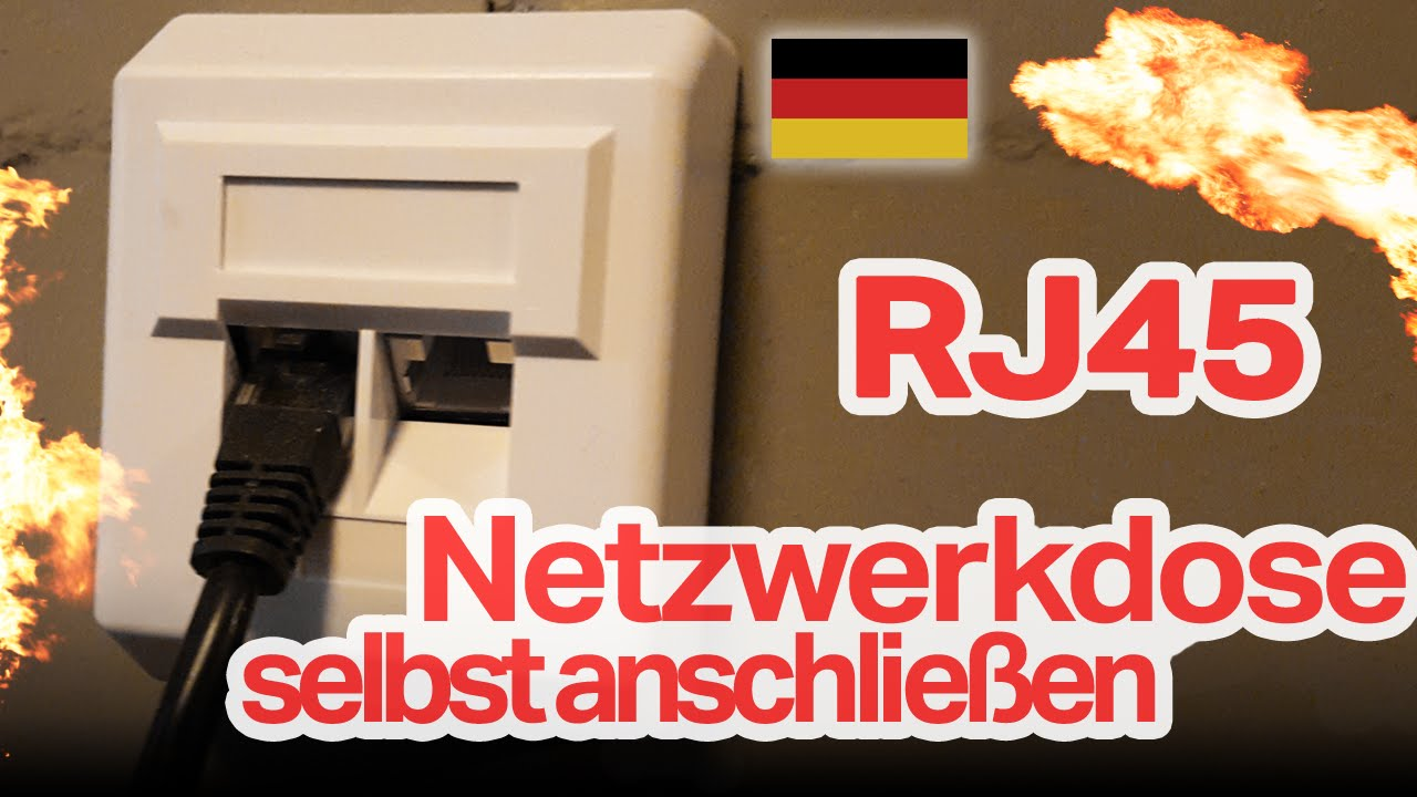 rj45 netzwerkdose selbst anschlie en diy deutsch german hd youtube. Black Bedroom Furniture Sets. Home Design Ideas