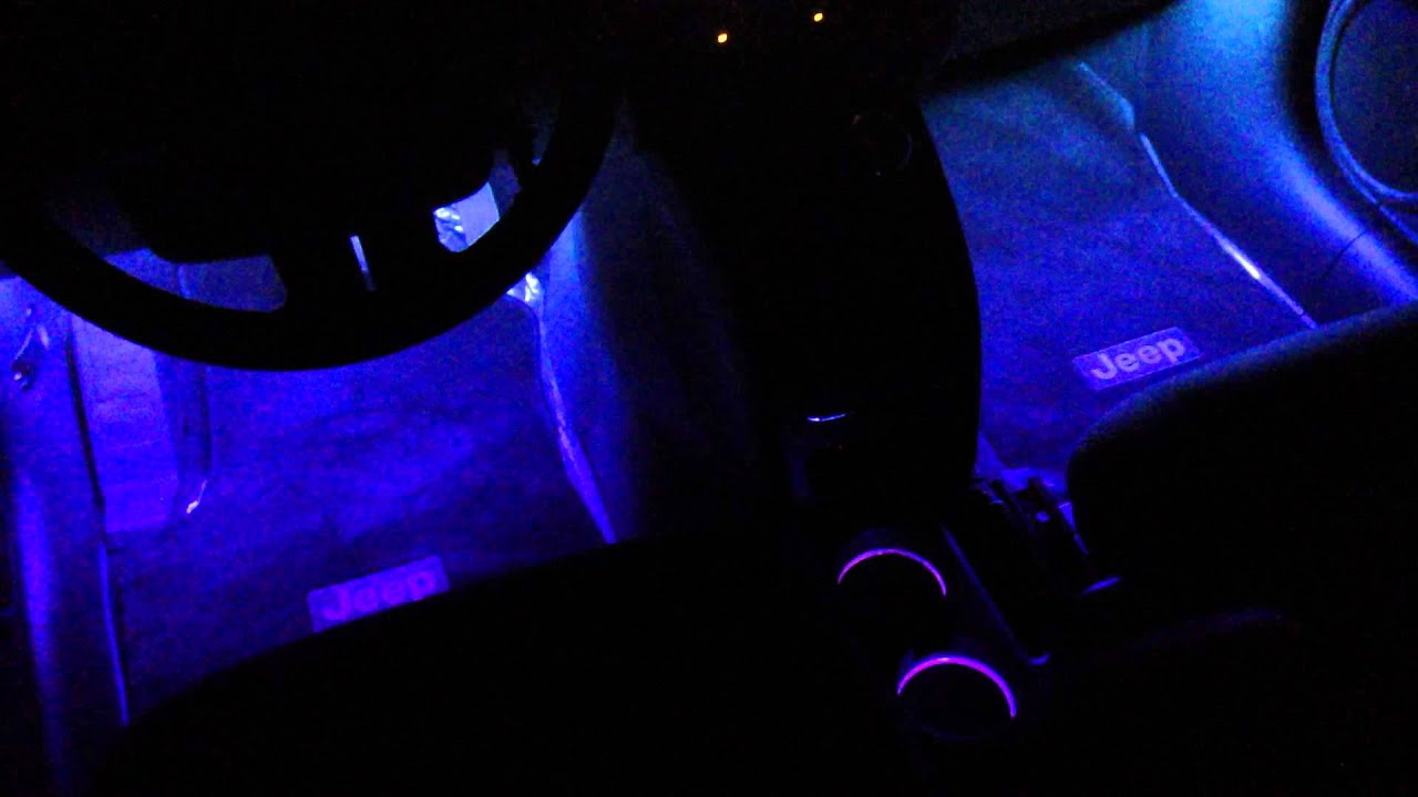 maxresdefault jeep patriot led install cup holders under dash youtube  at bayanpartner.co