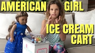 American Girl Doll Ice Cream Cart Unboxing