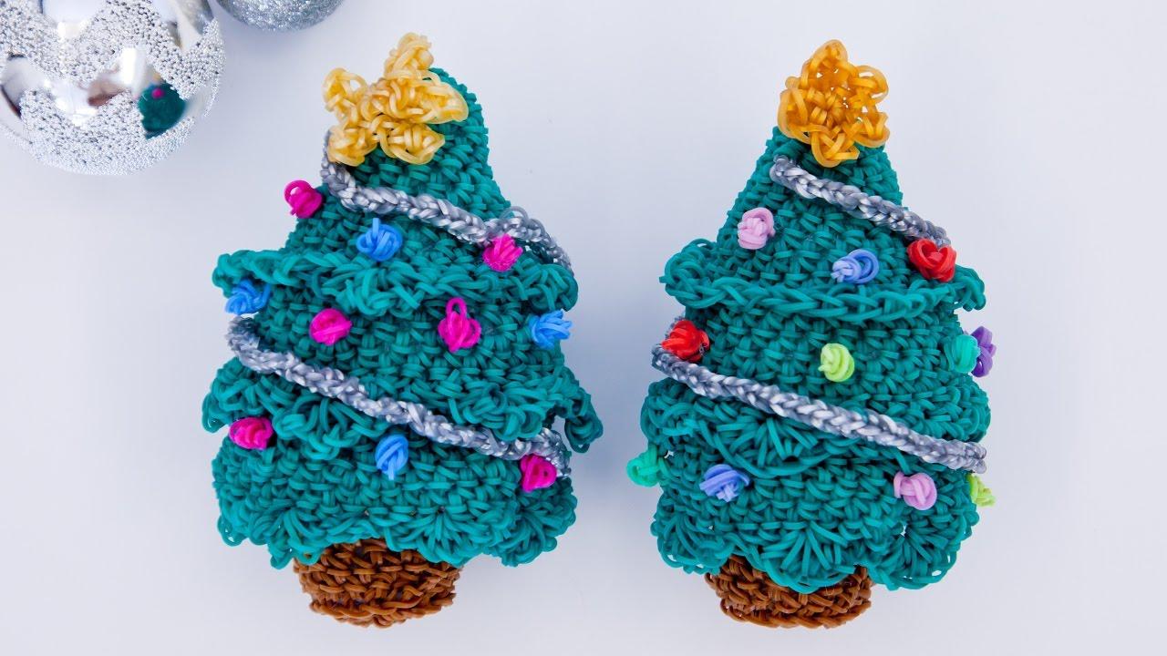 Christmas Tree Rainbow Loom Bands Amigurumi Loomigurumi ...