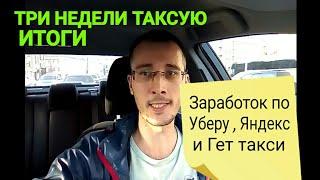 Работа в такси Москва. Недельный заработок