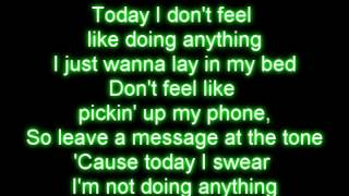 Lazy Song  Bruno Mars Lyrics