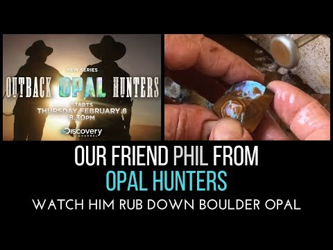 Phil from Opal Hunters - Shows How To Cut And Polish Boulder Opal