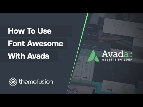 How To Use Font Awesome With Avada Video