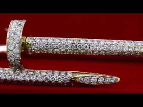 Cartier Juste Un Clou Nail Bracelet 18K Yellow Gold Diamond Pave Bracelet