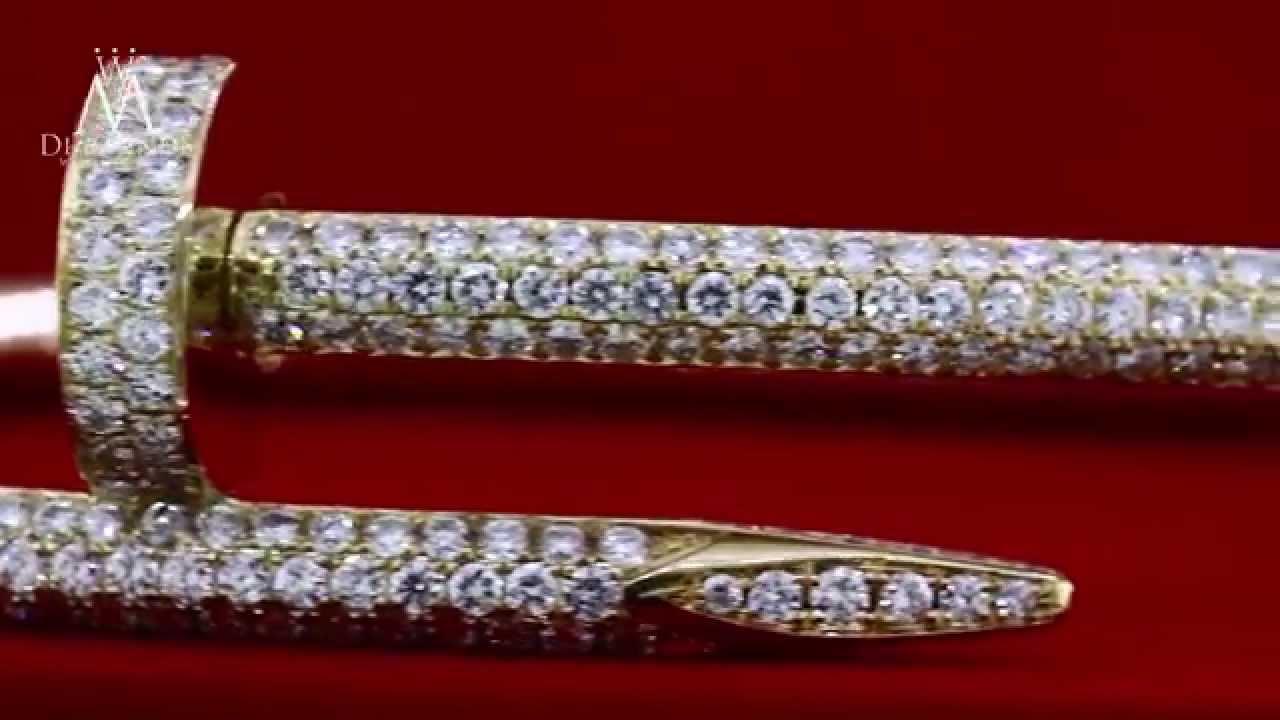 Cartier Juste Un Clou Nail Bracelet 18k Yellow Gold Diamond Pave You