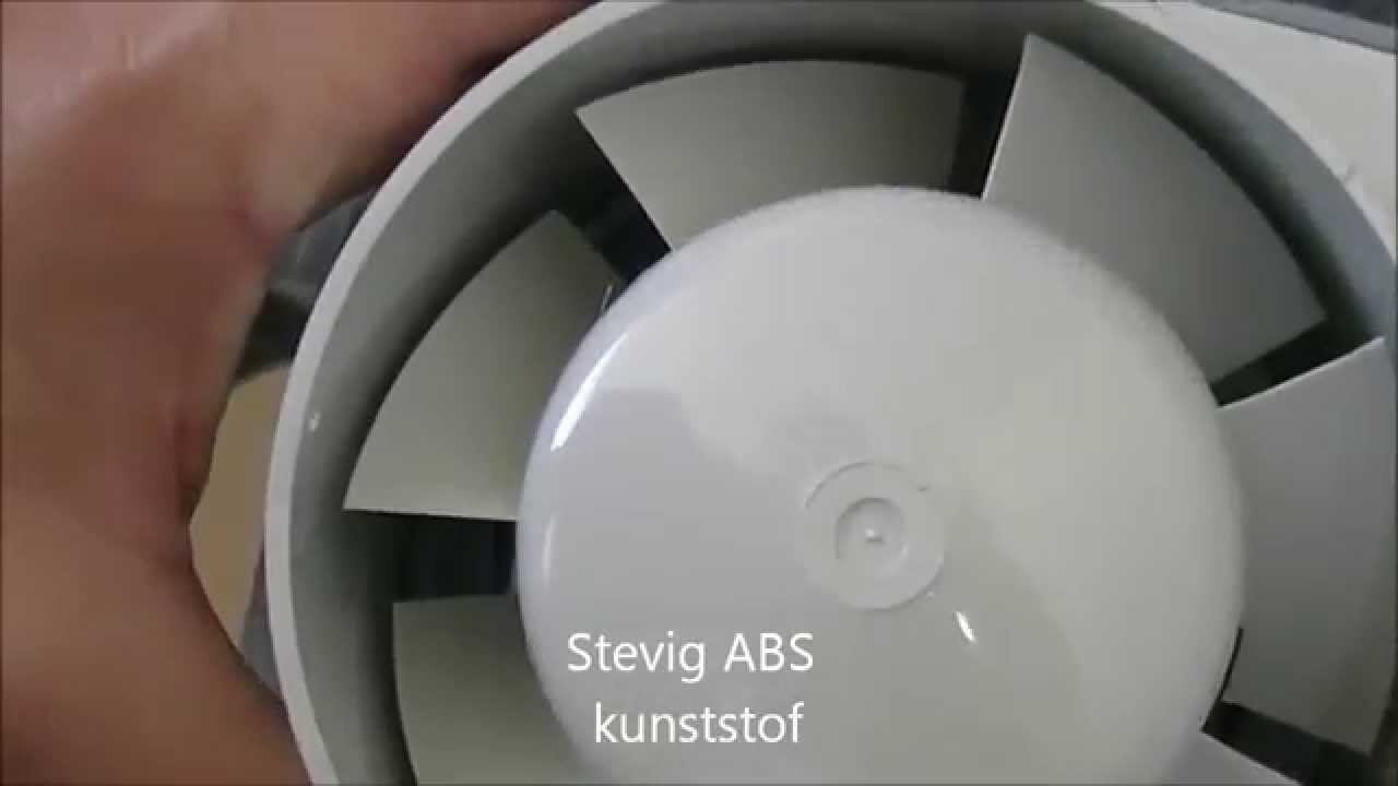 Fantech Badkamer ventilator - YouTube