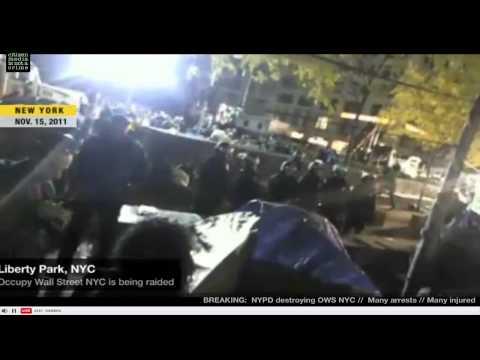 NYPD Raid OWS Zuccotti Park