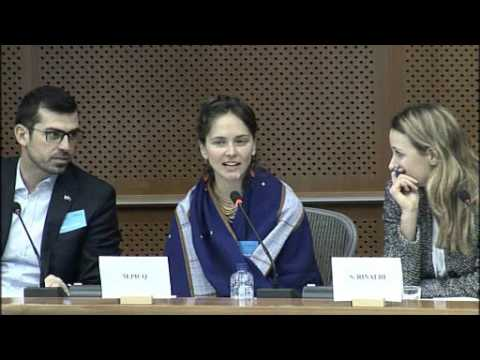 Front Line Defenders presents its 2015 Annual Report at the EP, with HRD Manuela Picq