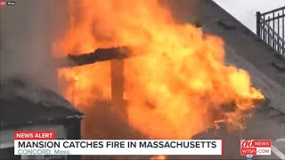 Mansion catches fire in Concord, Massachusetts | 10News WTSP