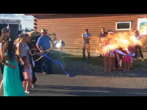 The Crown of Maine Balloon Fest Ribbon Burning 2017 - YouTube