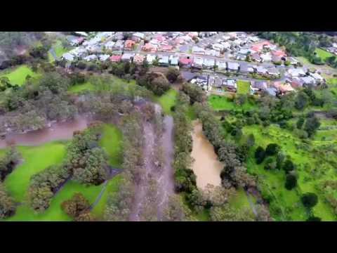 ADELAIDE RIVER TORRENS FLOOD SEPTEMBER  2016 DRONE FOOTAGE