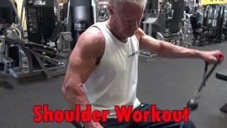 80 year old bodybuilder jim arrington s shoulder workout