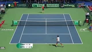 Tennis Elbow 2013 - Tsonga vs Goffin Davis Cup 2017 Final Full Gameplay