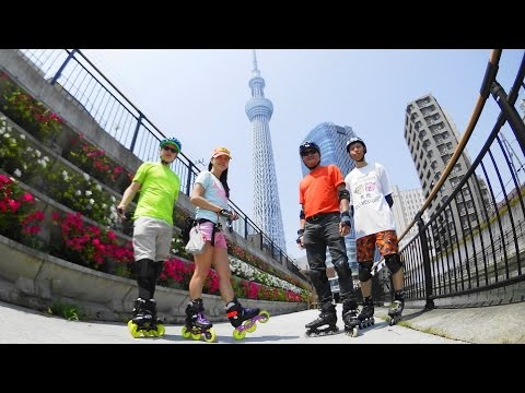 Inline Skating - Skating Trip in Tokyo Japan 東京 2016-04-28