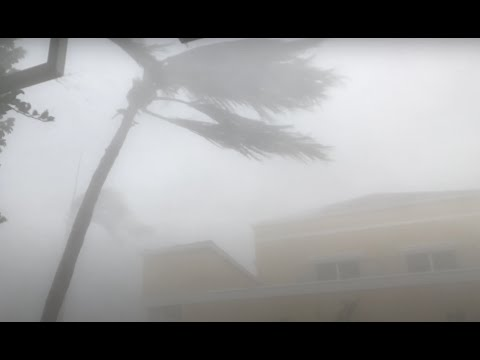 INSIDE Hurricane Irma from Naples Florida - Eyewall intercept