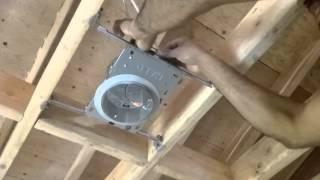 Electrecidad Facil : como instalar recessed light 120V romex #14/2