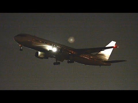 """Roman Abramovich """"The Bandit"""" Boeing 767-300ER [P4-MES] Departing LAX."""