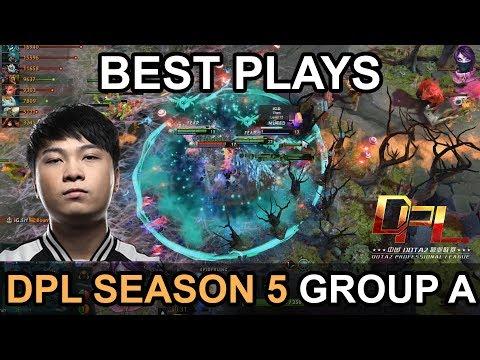 DPL Season 5 2018 BEST PLAYS Group A Highlights by Time 2 Dota #dota2