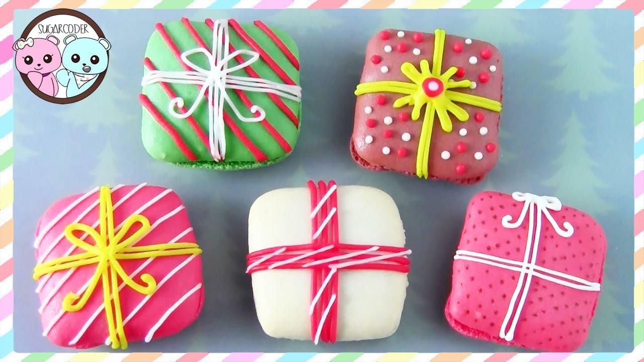 Christmas Macarons Present Macarons Sugarcoder Youtube