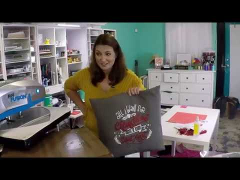 Craftmas Episode 40: Using HTV To Decorate a Pillow